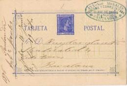19009. Entero Postal SANTANDER 1875. Alfonso XII - Enteros Postales