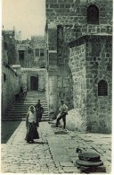 JERUSALEM PALESTINE STEPS LEADING TO THE CHURCH OF THE HOLY SEPULCHRE ED. JAMAL    LI49 - Palestina