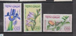 Maroc YV 480/2 N MNH 1965 Fleurs - Morocco (1956-...)