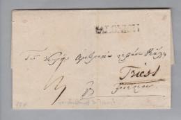 Griechenland 1844-12-10 Salonisii (Saloniki) Brief Nach Triest - Grèce