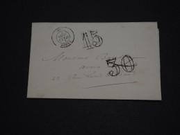 FRANCE - Lettre De La Caisse Des Dépôts Et Consignations De Paris En , Taxe 30 Annulée Et Remplacée - A Voir - L 1350 - Postmark Collection (Covers)