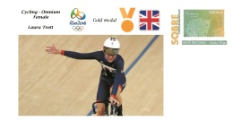 Spain 2016 - Olympic Games Rio 2016 - Gold Medal Ciclyng Female Great Britain Cover - Juegos Olímpicos