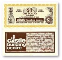CANADA - $ 1 Dollar - Cash Bonus - CASTLE Building Centre - Toronto - Canada