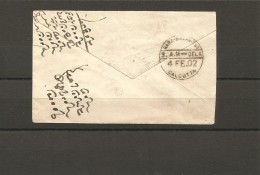 EX-M-16-08-29. COVER FROM CALCUTTA. - 1858-79 Crown Colony