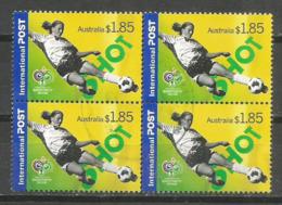 AUSTRALIE. FIFA WORLD CUP GERMANY 2006,  Bloc De 4 Oblitéré, 1 ère Qualité, Haute Faciale $ 7.40