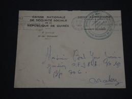 GUINEE- Lettre En Franchise  De Conakry En 1962 - A Voir - L 1365