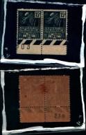 83255) Francia--1930-espos. Coloniale Intern. Di Parigi-n.270- Nuovi-coppia Del 15c.con Numero Di Tavola - Cat .10 Euro - France