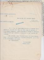 LETTERA  AVV. GIANNI AGNELLI FIAT 1930 VENDITA IMMOBILE IN CAGLIARI - Documents Historiques