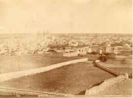 Davison, Malte, Panorama à Identifier Vintage Albumen Print,     Tirage Albuminé   20x26   Circa 1875 - Non Classificati