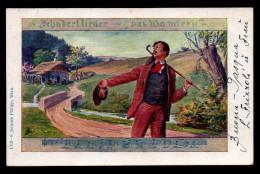 5996 - Alte Gemäldekarte - Liedkarte - Kunstverlag  Phiipp Wien - Gel 1922 - Schubertlieder - Illustrators & Photographers