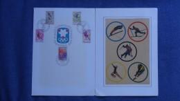 """1968 N°1543 à 1547 Livret 1er Jour Série Complète """"Jeux Olympiques D'Hiver"""" 0,40 € (5 Valeurs), Cote? - 1960-1969"""