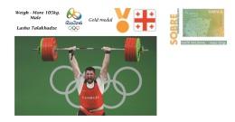 Spain 2016 - Olympic Games Rio 2016 - Gold Medal Weigh Georgia Cover - Juegos Olímpicos
