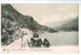 12331  Cpa  LINEA DEL SEMPIONE  : Lago Di Mergozzo Visto Dalla Ferrovia 1953 , 2 SCANS - Verbania