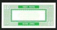 "Test Note ""PERTO A"" Testnote, 10 UNITS, Beids. Druck, RRR, UNC, 140 X 66 Mm - USA"