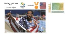 Spain 2016 - Olympic Games Rio 2016 - Gold Medal Athletics Triple Jump USA Cover - Juegos Olímpicos