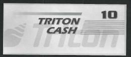 "Test Note ""TRITON"" Testnote, Typ C, 10 Units, Beids. Druck, Sample, RRR, UNC - USA"