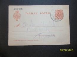Espana: 1919 Postal Card To Barcelona (#KF16)