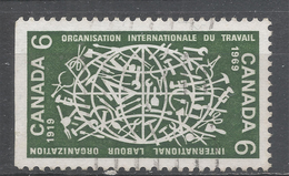 Canada 1969. Scott #493 (U) 50th Anniv Of Th ILO, Globe And Tolls Of Various Trades - 1952-.... Règne D'Elizabeth II