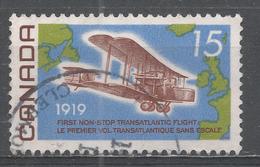 Canada 1969. Scott #494 (U) Vickers Vimy 1919, And Map Of The Atlantic - 1952-.... Règne D'Elizabeth II