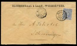 NETHERLANDS - December 14, 1894. Cover Sent From Wormerveer To Scheveningen. Franked With NVPH #35. - Periode 1891-1948 (Wilhelmina)