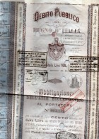1899 DEBITO PUBBLICO REGNO D'ITALIA - Azioni & Titoli