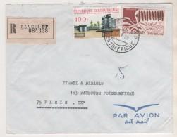 REPUBLIQUE CENTRAFRICAINE BANGUI RP - LETTRE RECOMMANDEE DE 1970 ( VIGNETTE, OPERATION BOKASSA SICPAD, XYLOPHONE - - Central African Republic