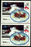 WATER SPORTS-RAFTING SUNKOSHI-PAIR-NEPAL-MNH-A1-518 - Rafting