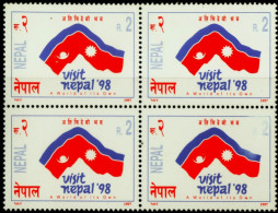 TOURISM-VISIT NEPAL-A WORLD OF ITS OWN-BLOCK OF 4-NEPAL-1998-MNH-A1-519 - Ferien & Tourismus