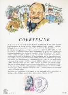 """FRANCE 1979 : Encart Philatélique 1er Jour """" COURTELINE """" N° YT 2032. Parfait état. - Célébrités"""