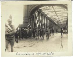 PHOTO  115 X 90 Mm - évacuation De Kehl En 1930 - - Francia