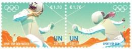 UN Olympic Games RIO 2016 - 2 Stamps MNH Escrime Fencing Fechten - Escrime