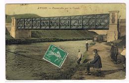 AVION. - Passerelle Sur Le Canal. - Avion
