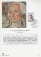 """FRANCE 1989 : Encart Philatélique 1er Jour """" PERSONNAGES DE LA REVOLUTION : FRANCOIS KELLERMANN """" N°YT 2595. Parf. état. - Révolution Française"""