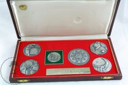 Collection Of 6 Table Tennis Medals Dedicated To Ladislav Štípek Player In 1981 - Table Tennis