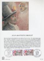 """FRANCE 1989 : Encart Philatélique 1er Jour """" PERSONNAGES DE LA REVOLUTION : DROUET """" N° YT 2569. Parf. état. - Révolution Française"""