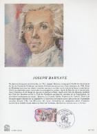 """FRANCE 1989 : Encart Philatélique 1er Jour """" PERSONNAGES DE LA REVOLUTION : BARNAVE """" N° YT 2568. Parf. état. - Révolution Française"""