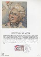 """FRANCE 1989 : Encart Philatélique 1er Jour """" PERSONNAGES DE LA REVOLUTION : NOAILLES """" N° YT 2566. Parf. état. - Franz. Revolution"""