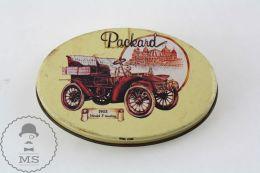 Vintage Licorice Spanish Tin Box With Packard 1903 Model F Touring Illustration - Dozen