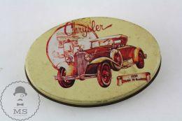 Vintage Licorice Spanish Tin Box - Chrysler 1930 Model 70 Roadster Illustration - Dozen