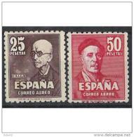 ES1015STV-LFT1518TCSC.Musico Manuel De FALLA Y ZULOAGA,pintor.1947(Ed 1015/16*). Conn Charnela.MAGNIFICO - Celebridades