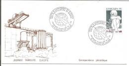 OBLITERATION JOURNEE FAMILLE AU CENTRE D'ACHEVEMENT ET D'ESSAI  DES PROPULSEURS à SAINT MEDARD EN JAILLE (GIRONDE) 1976 - Commemorative Postmarks