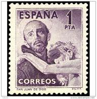 ES1070STV-LFT**1070TRCR.España.Es Pagne.Spain.SAN  JUAN  DE DIOS.1953.(Ed 1070*)sin Charnela. - Cristianismo