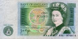 BILLETE--1 POUND ( 1 LIBRA ) --GRAN BRETAÑA --Elizabeth II - 1952-… : Elizabeth II