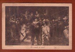 1 Cpa La Ronde De Nuit Rembrandt - Peintures & Tableaux