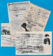 CPA HISTOIRE - Documents Historiques (Lot De 4) NAPOLEON BONAPARTE - Histoire