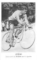 CYCLISTE-  LEONI , SELECTIONNE PAR O.C.B. PAPIER A CIGARETTES - Cyclisme