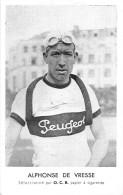 CYCLISTE- ALPHONSE DE VRESSE    , SELECTIONNE PAR O.C.B. PAPIER A CIGARETTES - Cyclisme