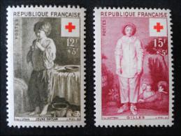 SURTAXE POUR LA CROIX-ROUGE 1956 - NEUFS * - YT 1089/90 - MI 1117/18 - France