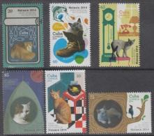 2014.188 CUBA 2014 MNH+HF. COMPLETE SET. GATOS. CAT. EXPO MALASIA. MALAYSIA. - Ongebruikt
