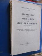 Louis Maurice JOUFFROY - RECHERCHES SUR LA CREATION D'UNE GRANDE LIGNE DE CHEMIN DE FER  AU XIX° SIECLE - Chemin De Fer & Tramway